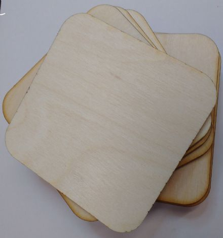 wooden coaster blanks 9cm  square birch plywood Pack of 10,25 or 50 crafts